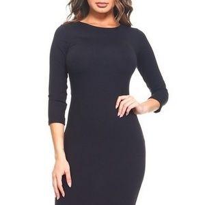 Elegant Artistry Bodycon Midi Dress